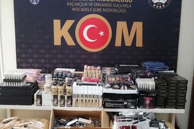 Malatya'da çok sayıda kozmetik ürün ve tütün mamulü ele geçirildi