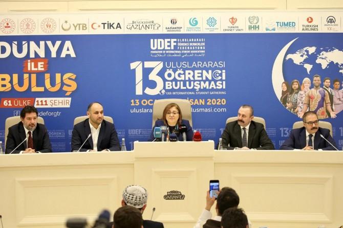 """Gaziantep'te """"13. Uluslararası Öğrenci Buluşması"""" tanıtıldı"""
