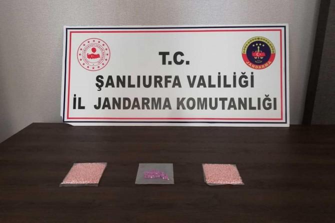 Şanlıurfa'da bin 350 adet uyuşturucu hap ele geçirildi
