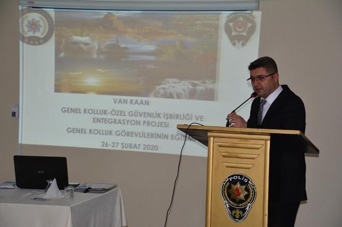 Van'da Genel Kolluk Özel Güvenlik İş birliği ve Entegrasyon (KAAN) eğitimleri başladı