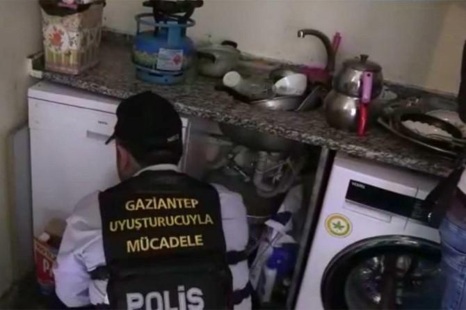 Gaziantep'teki uyuşturucu operasyonunda 34 kişi gözaltına alındı