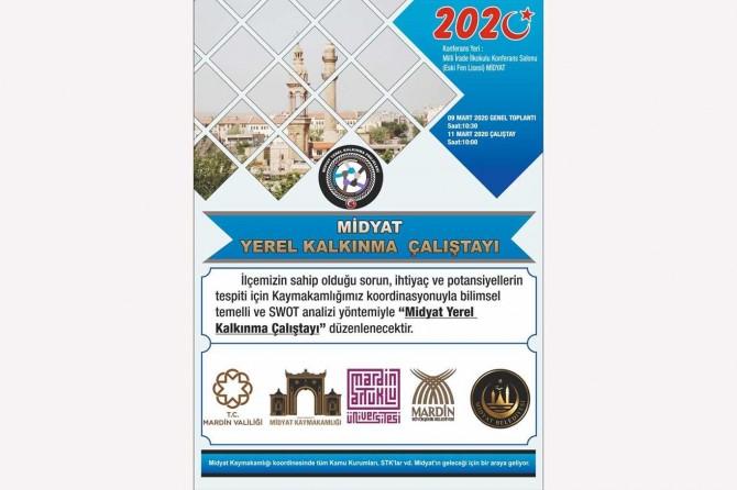 """Midyat'ta """"Yerel Kalkınma Çalıştayı"""" düzenlenecek"""