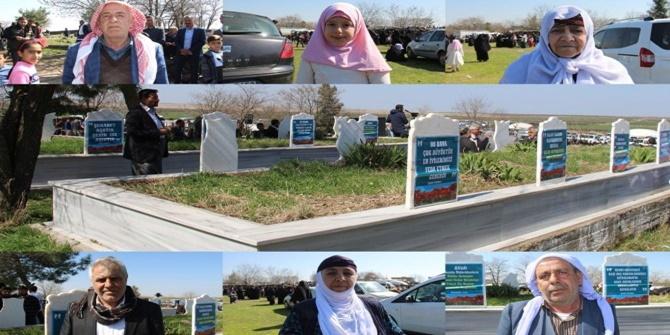 Karacadağ şehidlerini anma programına katılanlar duygularını paylaştı