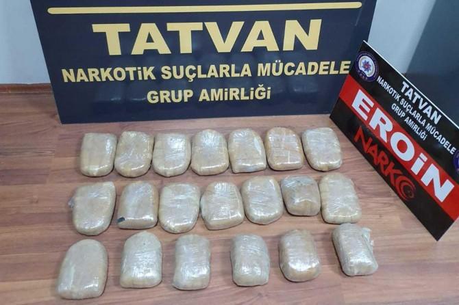 Bitlis'te 10 kilogram eroin maddesi ele geçirildi