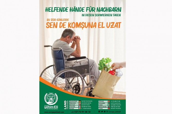 Avrupa Yetim Eli'nden yaşlı ve kimsesizlere yardım eli