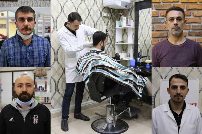 Diyarbakırlı berberler tıraş malzemelerini dezenfekte ederek hijyene önem veriyor
