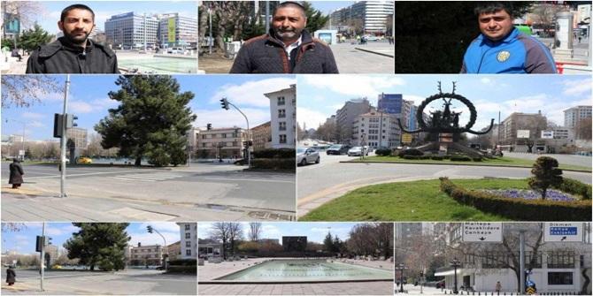 Ankara'da Corona virüsü nedeniyle en işlek cadde, meydan ve parklar boş