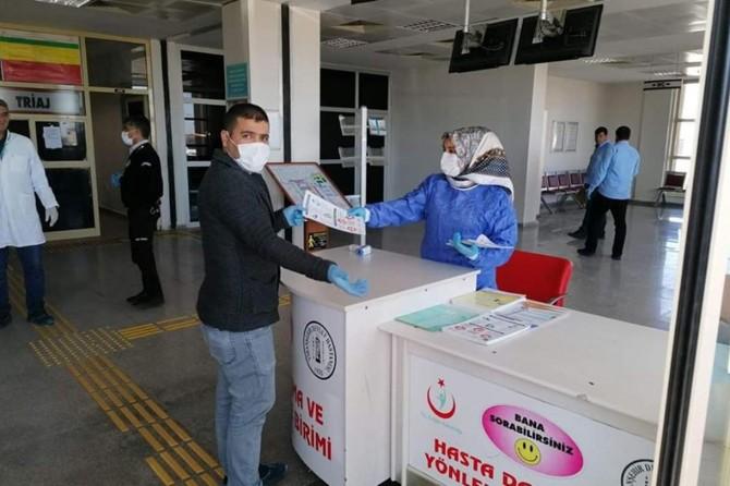 Corona virüse karşı Viranşehir Devlet Hastanesinde ek önlemler alındı