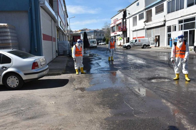 Diyarbakır toptancılar çarşısında dezenfekte çalışması yapıldı