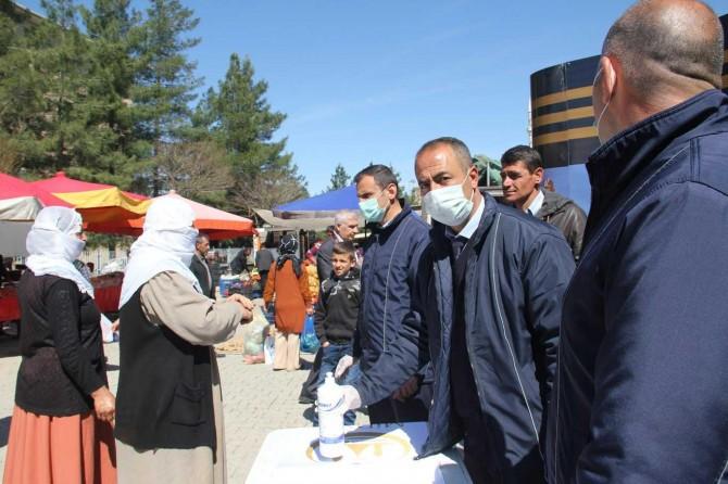 Midyat Belediyesinden semt pazarlarında Corona virüs tedbirleri
