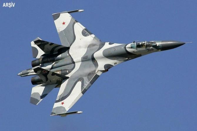 Rusya'ya ait bir savaş uçağı düştü