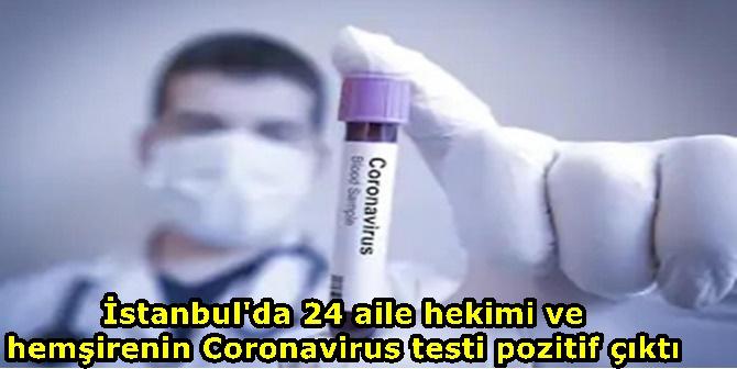 İstanbul'da 24 aile hekimi ve hemşirenin Coronavirus testi pozitif çıktı