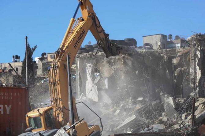 Siyonist işgal çetesi Batı Şeria'da yeni yıkımlara başladı