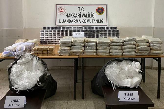 Hakkâri'de 177 kilogram eroin ele geçirildi
