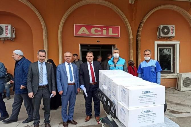 Mardin'deki hastanelere malzeme desteği verildi
