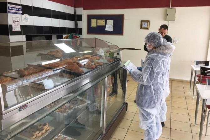 Balıkesir'de gıda işletmelerinde Coronavirüs denetimleri yapıldı