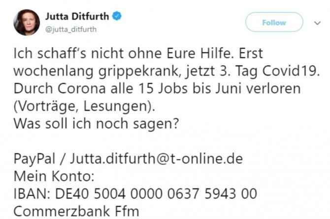 Coronavirus'e yakalanan Alman Yeşiller Partisi eski başkanı para dilendi!