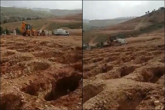 Covid-19'dan ölen hastalar için kazıldığı iddia edilen mezarlarla ilgili açılama