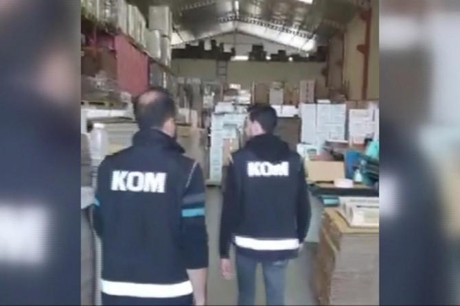 Adana'da 53 bin adet kaçak el dezenfektanı ele geçirildi