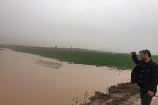 Hilvan'da dolu yağışı maddi hasara neden oldu