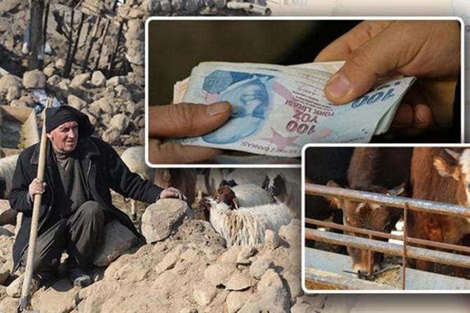 Van'daki deprem mağduru üreticilere 2 milyon 150 bin liralık ödeme