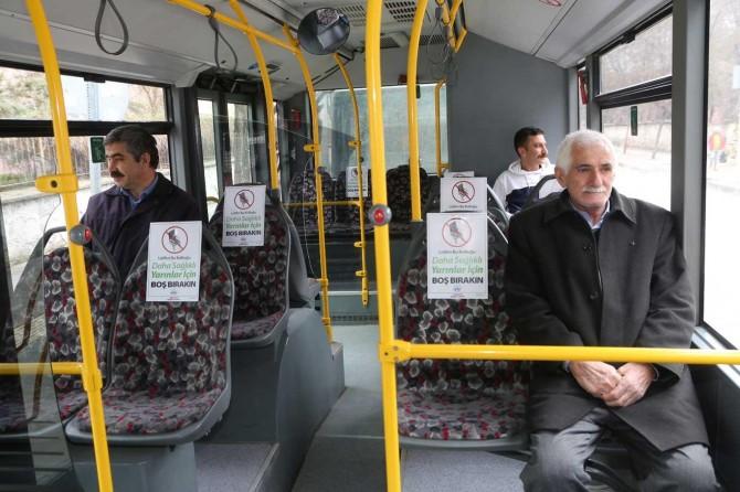 Elazığ'da toplu taşımada boş koltuk uygulaması başladı