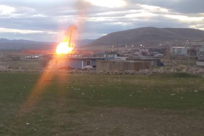 Doğubayazıt'taki doğalgaz hattında patlama meydana geldi