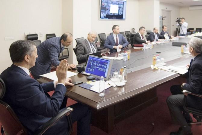 Bakan Selçuk, 81 ilin milli eğitim müdürleriyle telekonferansla toplantı yaptı