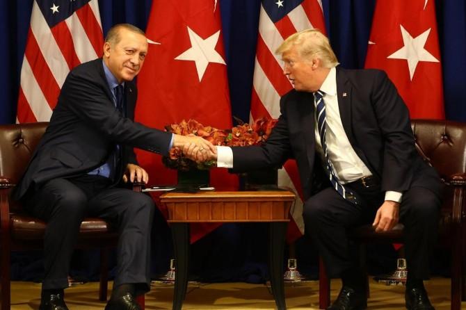Erdogan bi Trump re hevdîtin kir