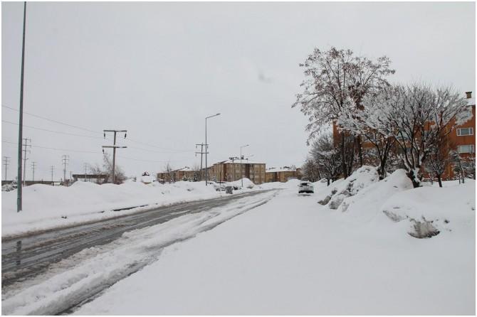 1 Nisan'da Bitlis'te yoğun kar yağışı şaşırttı