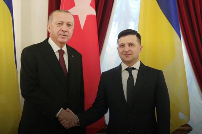 Cumhurbaşkanı Erdoğan, Ukrayna Cumhurbaşkanı Zelenskiy ile telefonda görüştü