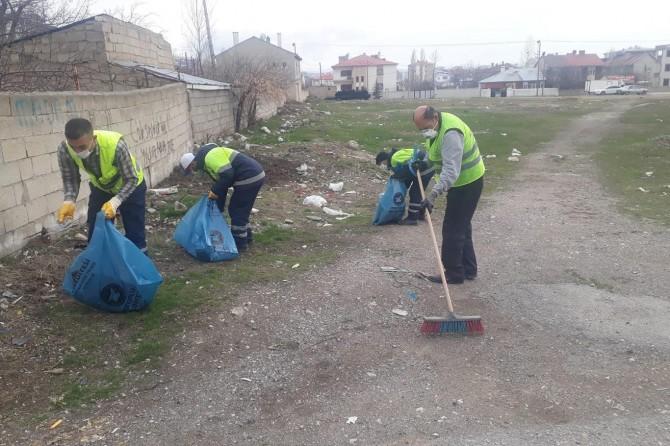 Van'da bahar temizliği devam ediyor