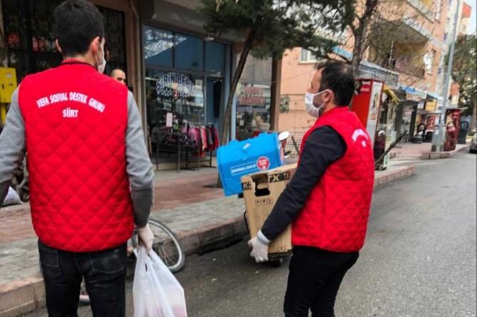 """Siirt'te gönüllü öğretmenler """"Vefa Sosyal Destek Grubu"""" oluşturdu"""