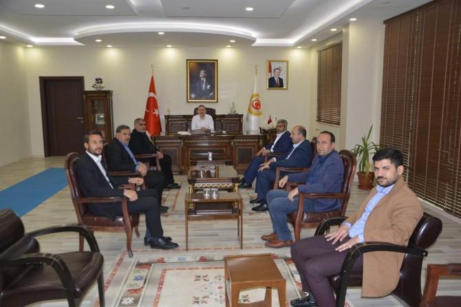 Viranşehir İlçe Kaymakamı Dereci siyasi parti temsilcileri ile bir araya geldi
