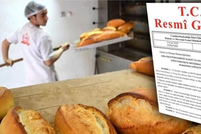 Ekmeğin son pişirme işlemini yapan iş yerlerinde de ruhsat aranacak