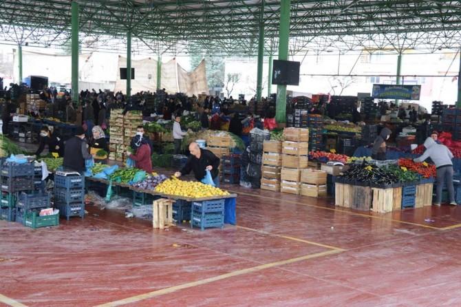 Gaziantep semt pazarlarında Coronavirus önlemleri artırıldı