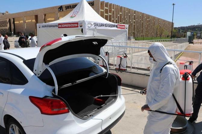 Şanlıurfa'da 15 bin araç dezenfekte edildi
