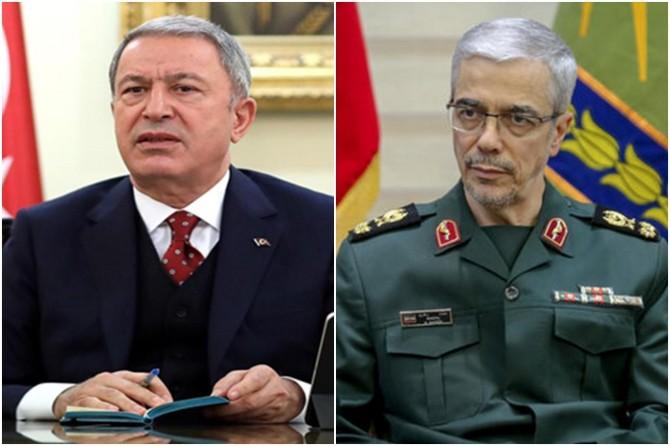 Bakan Akar, İran Genelkurmay Başkanı Bakıri ile telefonda görüştü