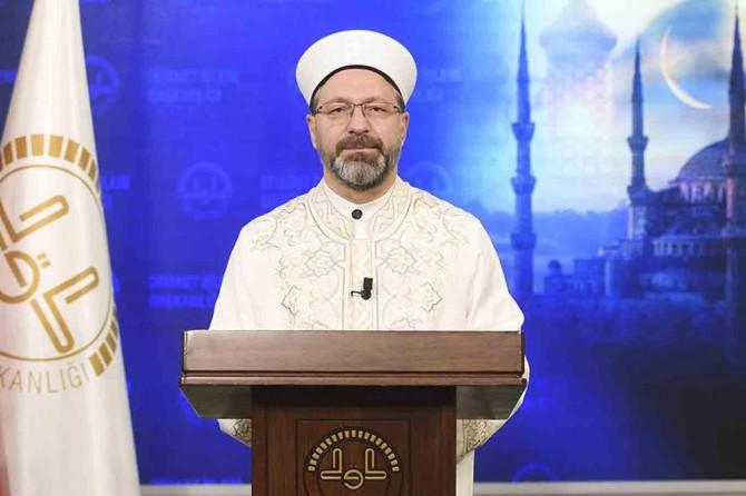 """DİB Erbaş'tan teravih açıklaması: """"Cemaatle namaza verilen ara Ramazan'da da sürecek"""""""