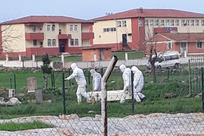 Siverek'te Covıd-19'dan vefat eden kişi toprağa verildi
