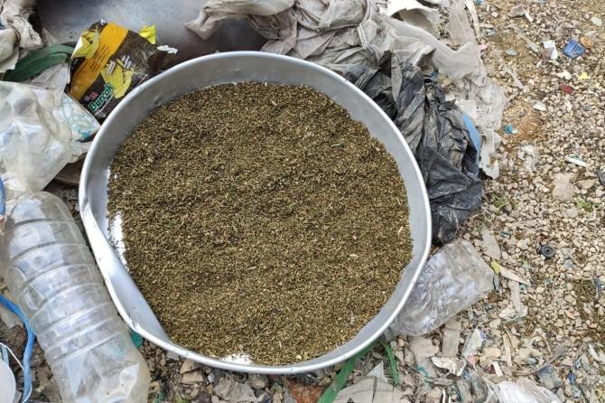 Kızıltepe'de esrar maddesi ele geçirildi