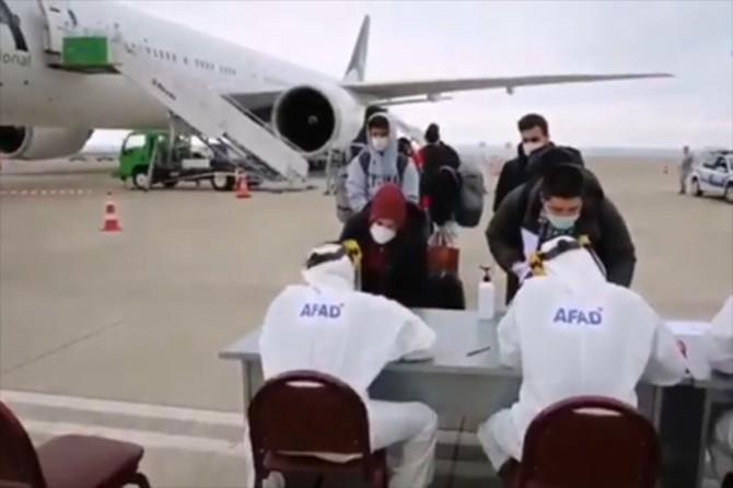 Kanada'dan getirilen 214 kişi Trabzon'da karantinaya alındı