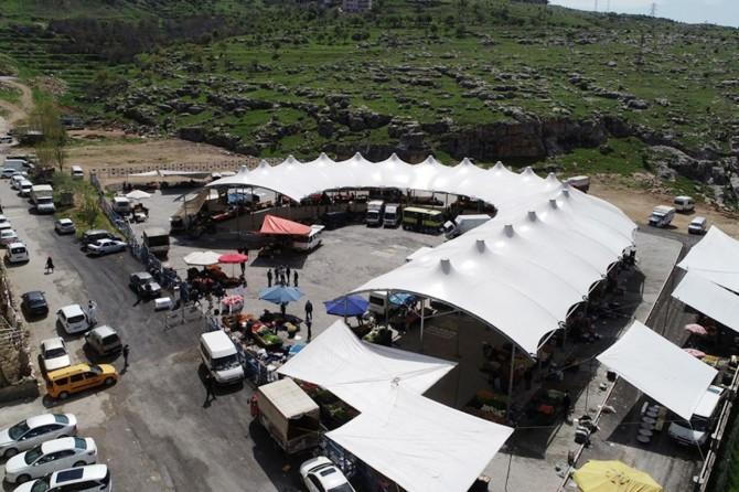 Mardin'de kapalı semt pazarı hizmete girdi
