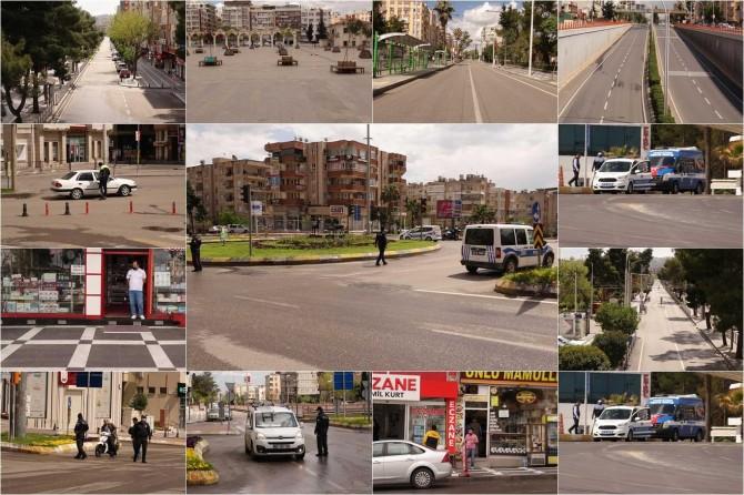 Şanlıurfa'da sokağa çıkma yasağı kapsamında kontroller artırıldı
