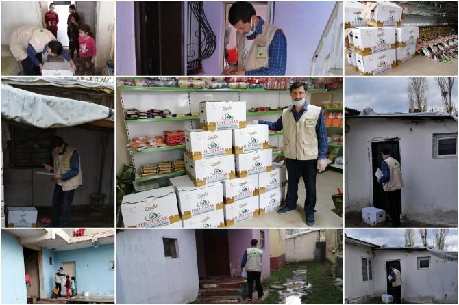 İHO-EBRAR Muş'ta onlarca aileye Ramazan yardımında bulundu