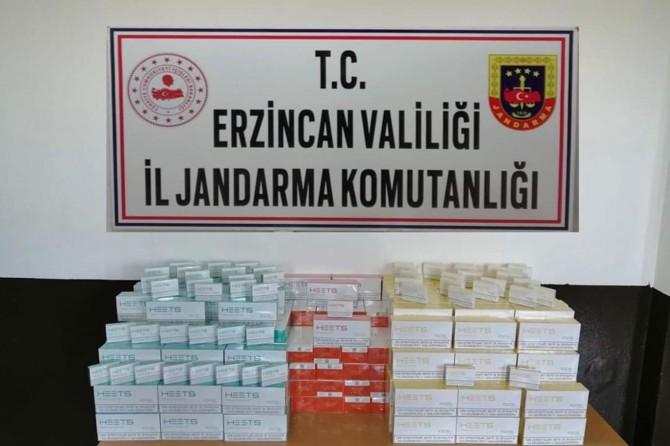 Erzincan'da 2 bin 500 paket kaçak elektronik sigara kartuşu ele geçirildi
