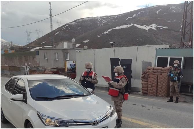 Maden'e araç giriş çıkışları sınırlandırıldı