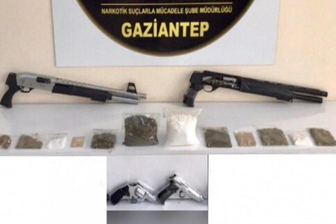 Gaziantep'te uyuşturucu operasyonunda 14 şüpheli yakalandı