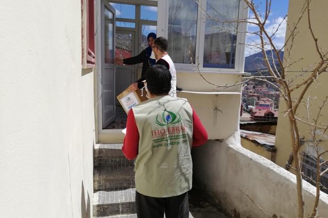 IHO EBRAR, Gümüşhane'de ihtiyaç sahibi ailelere ulaştı