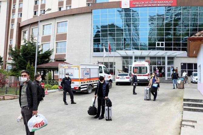 Rize'de karantina süresi dolan 193 kişi evlerine gönderildi